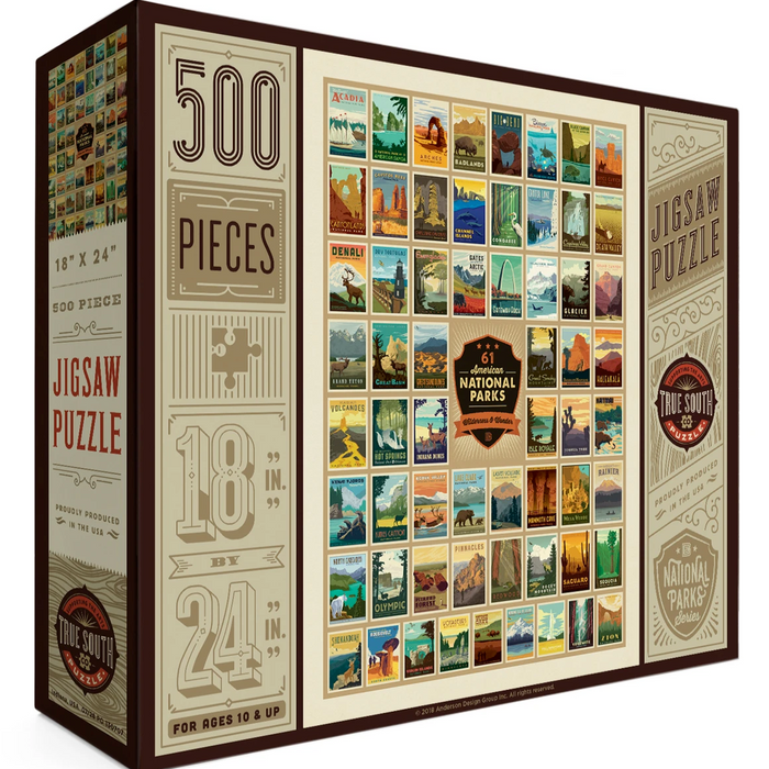 61 National Parks 500 Piece Puzzle