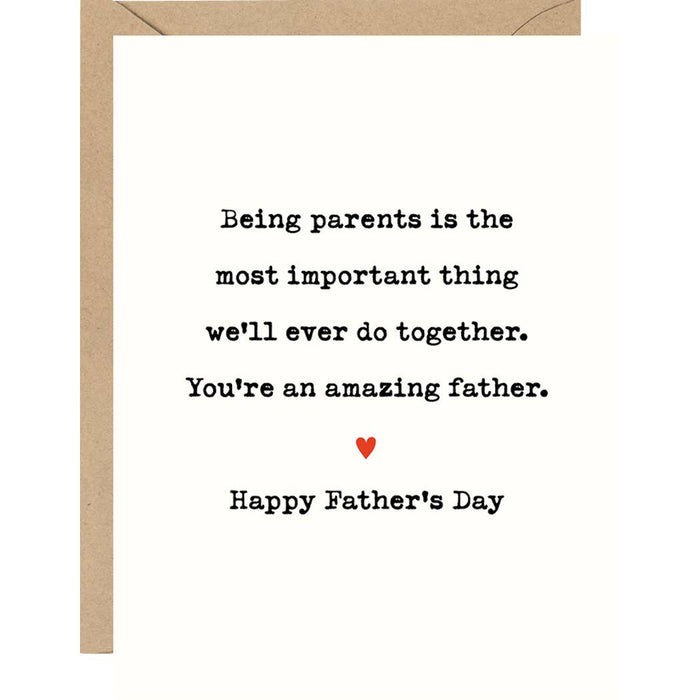 Being Parents Father's Day A2 Single Card