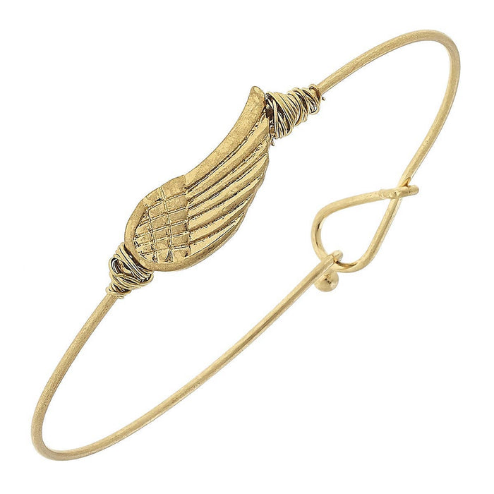 Angel Wing Latch Bangle