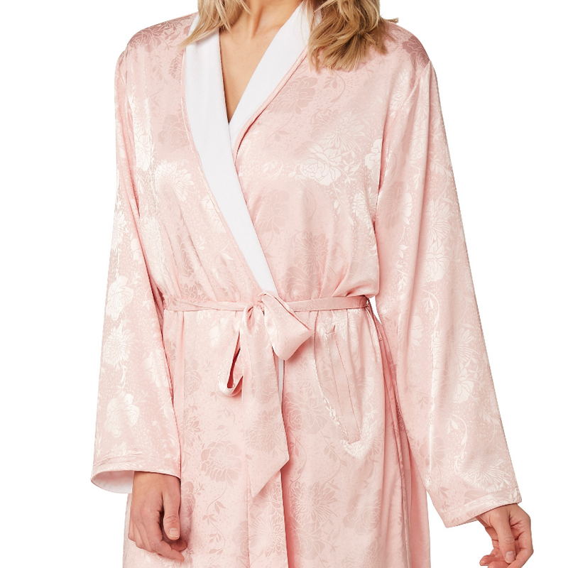 Women's Kimono Robe Satin Dressing Gown, Silk Bathrobe Nightwear