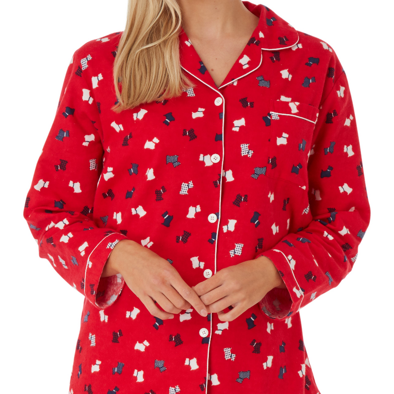 Women's Pure Cotton Brushed Pyjamas Long Sleeve Comfy Loungewear PJ's Set