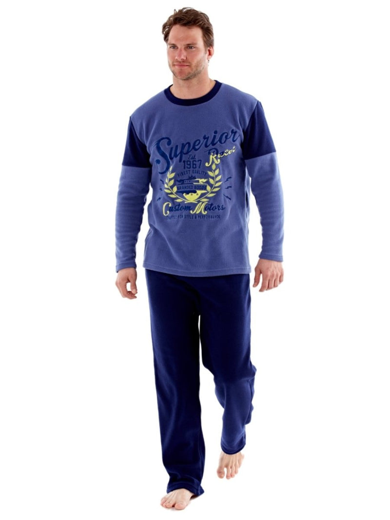 Men's Warm Polar Fleece Pyjama Sets, Thermal Loungewear - SaneShoppe