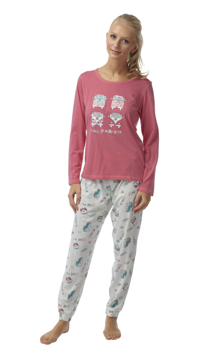 Women's Pyjamas Long Sleeved Loungewear Nightwear - SaneShoppe
