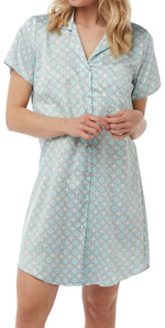 Nightshirts for Women Satin Button Down Sleepwear