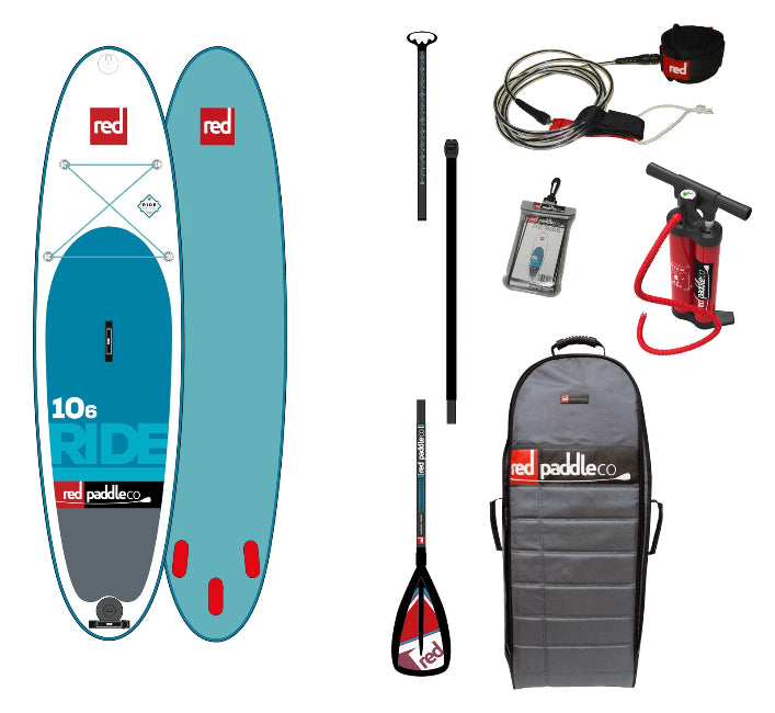 RED PADDLE RIDE 10'8 INFLATABLE STAND UP PADDLE BOARD SUP