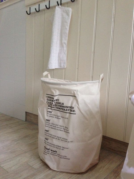 House Doctor Laundry Bag with Wash Instructions at BLANC Home
