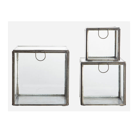 House Doctor Glass & Iron Storage Boxes at BLANC Home