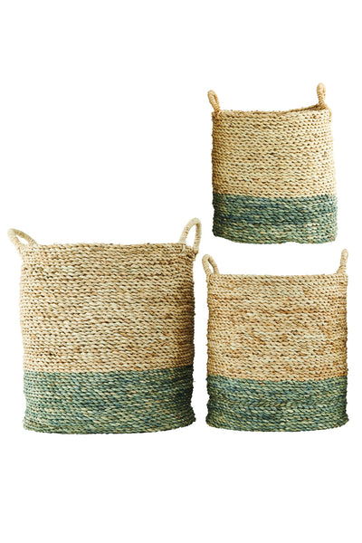 House Doctor Natural & Grey Maize Basket at BLANC Home