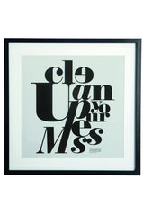 "House Doctor Framed ""Clean up your mess"" Print at BLANC Home"