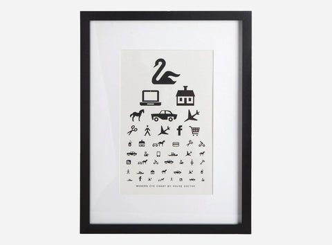 "House Doctor Framed ""Eye Chart"" Print at BLANC Home"