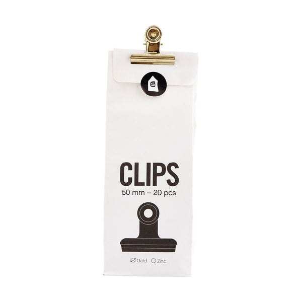 Set of 20 Gold Bulldog Clips