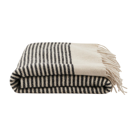 Woven Wool Striped Throw