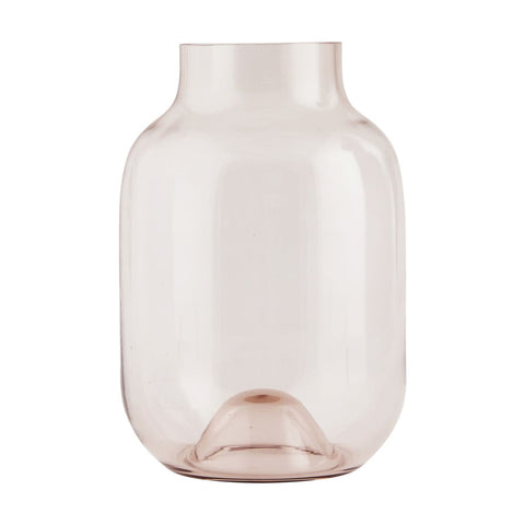 Shadow Pink Glass Vase