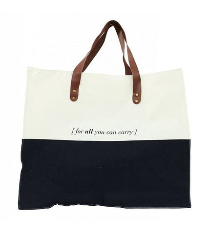 """For All That You Can Carry"" Shoulder Canvas Bag"