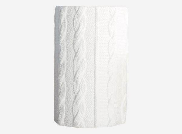 House Doctor White Ceramic Knitted Vase at BLANC Home