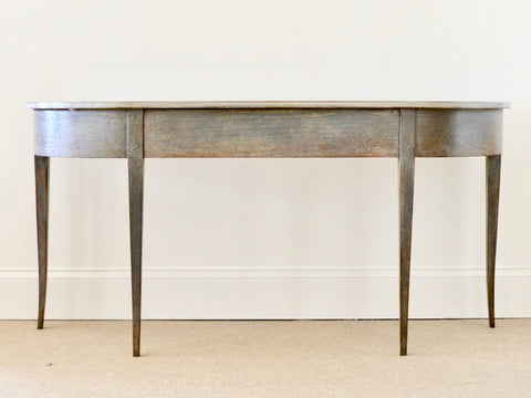 Pewter Painted Console