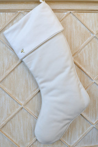 Ivory Stocking with Cuff