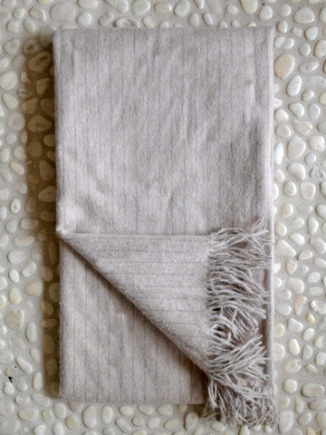Pinstripe Alpaca Throw