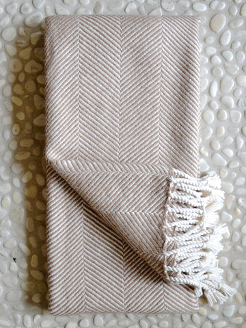 Merino Herringbone Throw