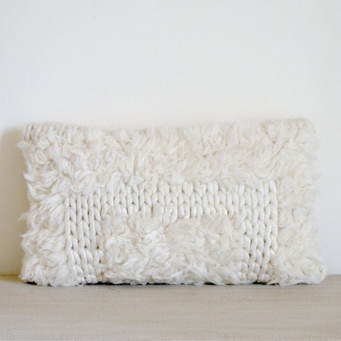 Cable Knit Tribal Pillow