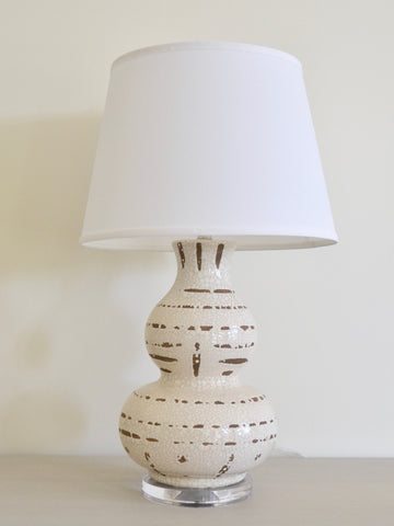 Ceramic Tribal Lamp