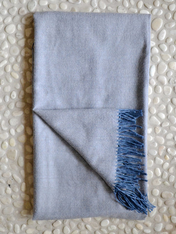 Dove Herringbone Throw
