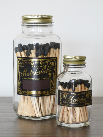 Black Vintage Match Bottles