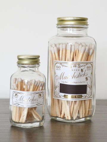 White Vintage Match Bottles