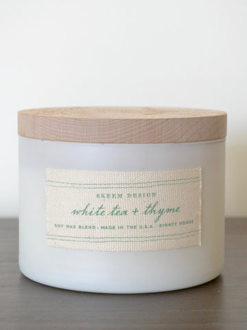 White Tea and Thyme Print Block Candle