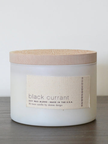 Black Currant Print Block Candle