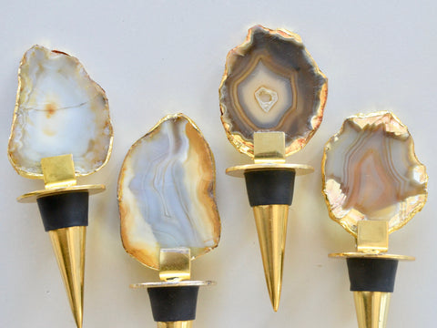 Agate Slice Bottle Stopper