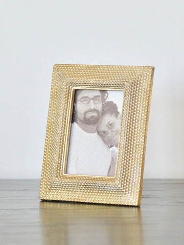 Gold Dots Rectangle Frame