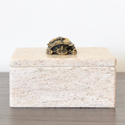 Beetle Travertine Box