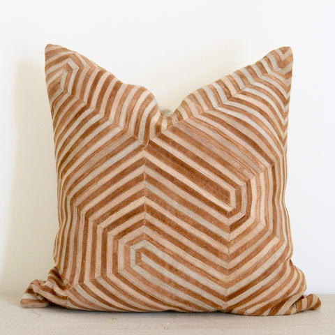 Op-Art Suede Pillow