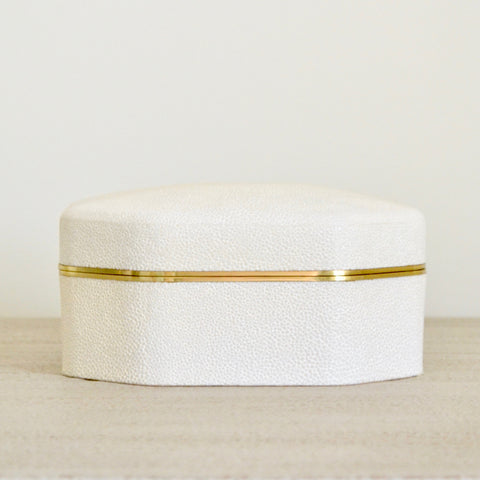 Octagonal Shagreen Box