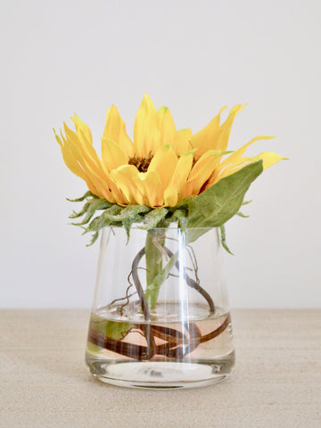 Sunflower in Pyramid Vase
