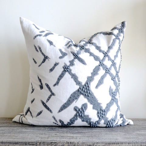 Beaded Brushstroke Pillow