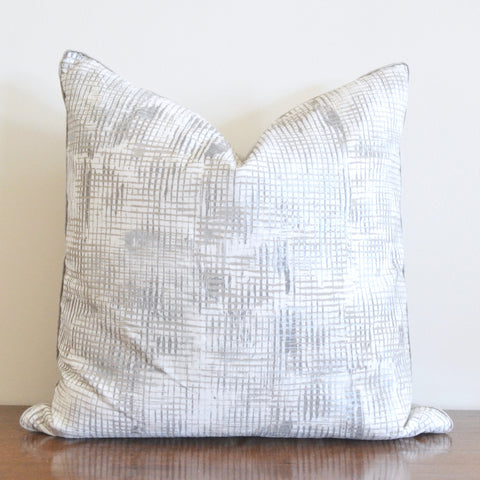 Metallic Cross Hatch Pillow