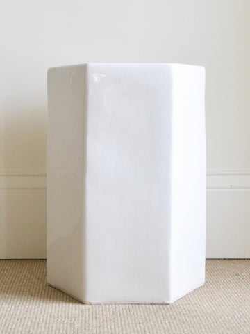 Toro White Side Table
