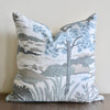 "Aqua ""Through The Woods"" Pillow"