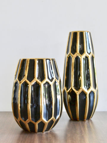 Gem Cut Vases