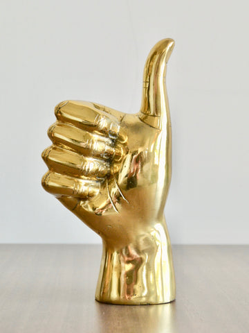 Brass Thumbs Up