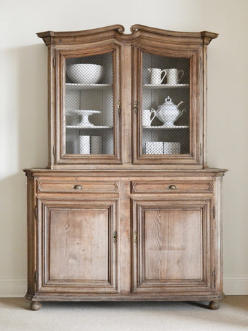 Antique Bleached Oak Cupboard