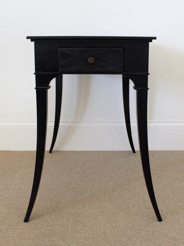 Satin Ebony Lamp Table