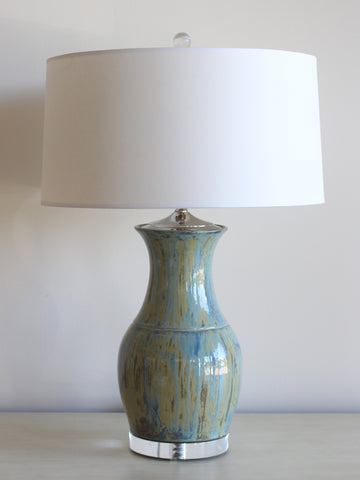 Charlie West Blue Ice Lamp