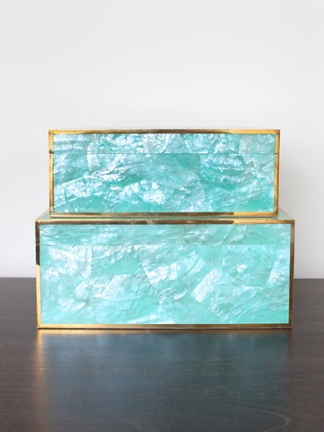 Turquoise Shell Box