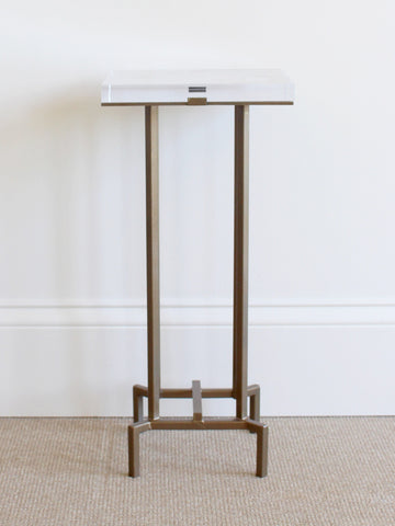 Brassy Accent Table