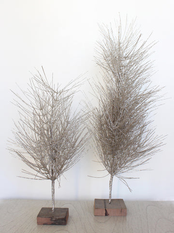 Silver Metallic Glitter Tree