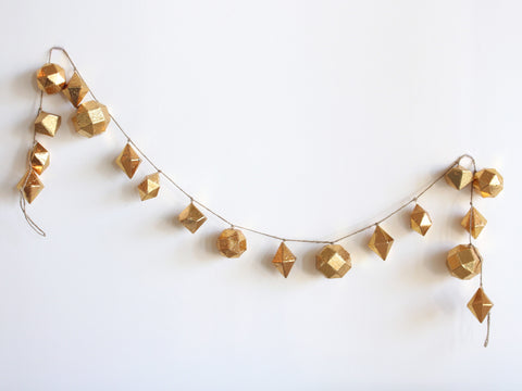 Gold Geometric Foil Garland