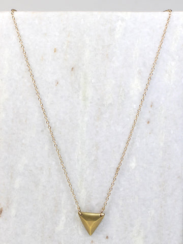 Triangle Brass Necklace
